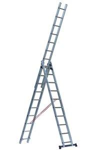 Escalux – Echelle transformable en Aluminium semi-prof 3 x 10 Haut travail 7.48 m – Escalux TR3