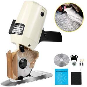 VEVOR Coupeur Rotatoire de Tissu de 100mm, Machine Tissu Cutter, Ciseaux Electriques Découpeuse de Tissu, électrique portable Chiffon 220V 250W, pour la soie