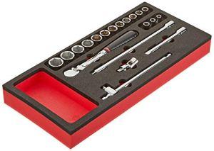 Facom MODM.JL161-36 Module Mousse, Noir/Rouge