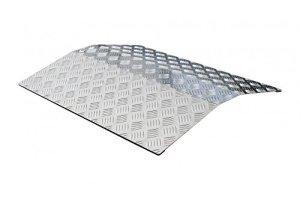 Porte de rampe Seuil Pont Rampe pour Fauteuil Roulant 56cm Longueur en aluminium