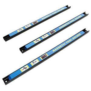WilTec Barre Porte- Outils aimantée 46cm – 3pcs. Barre magnétique Acier Carbone Support Rangement Outillage