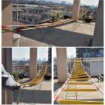 ZF Corde Souple Haute échelle de résine Anti-dérapant Corde d'intervention d'urgence de la sécurité des opérations de Sauvetage d'incendie Escalade échelle de Secours Fitness Training,15m