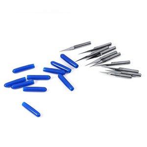 10 pièces gravure CNC Bits Set gravure CNC Cutters 10 degrés pour moule en plastique etc. outil de travail du bois