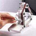 4500-9000RPM 7 Vitesse Réglable Polisseuse Bricolage Mini Ponceuse Bord Aiguiseur Ponçage/Polissage/Rectifieuse Pour Le Bricolage Travail – 10 * Ceinture + 4 * Clé