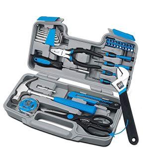 Bijiangy Boîte à Outils Ménagers Multifonctions d'outils à Main Set Matériel Rose Boîte à Outils Clé Tournevis Pinces Marteau Outils à Main Boîte électrique (Color : Blue)