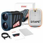 DTAPE Télémètre de Golf, DT600 de mesure laser avec grossissement x6 et batterie rechargeable mesure distance mesure 600, angle mesure de classe de protection IP54