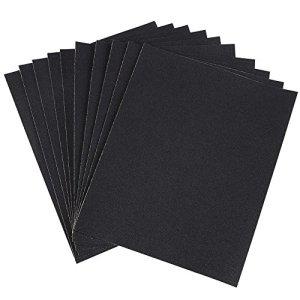 Papiers de verre, polissage humide/sec Papier abrasif imperméable à l'eau Outil de brunissage 5 types 10 pièces(120 Grit)
