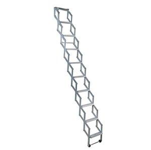 Alufix Concertina Loft Échelle 10 marches 2,45 -2,73m