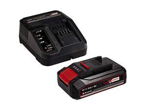 Einhell 2,5 Ah Starter Kit Power X-Change (18 V, 2,5 Ah, Lithium-Ion, 1 chargeur + 1 batterie 2,5 Ah, Temps de charge : 50 min, Témoin de niveau de charge)