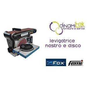 Fox 3112011–Ponceuse combinée à disque (diam.150mm) et à bande (100x 914mm), 230V 370W