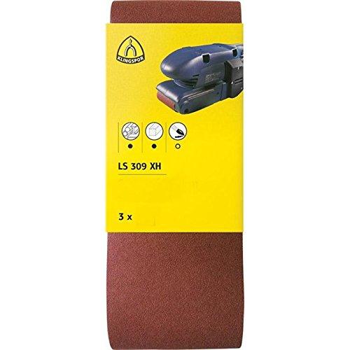 Klingspor 7084 Set de 3 LS 309 XH Bande abrasive Grain 120, 100 x 610 mm, Brun