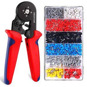 Silingsan Pince à Sertir, 1200 Pièces Pince de Sertissage kit Professionnels Outils Sertir à Cliquet Automatique 0.25-10mm² pour Isolées et Non Isolées de Câble