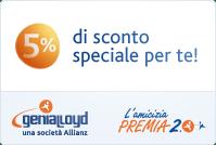 Visita il sito Genialloyd e fai un preventivo con il 5% di sconto