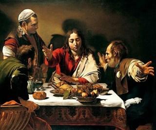 Cena in Emmaus del Caravaggio