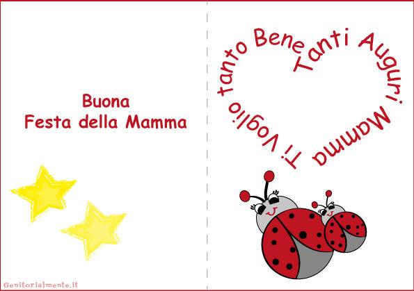 Biglietti per la festa della mamma da stampare | Genitorialmente