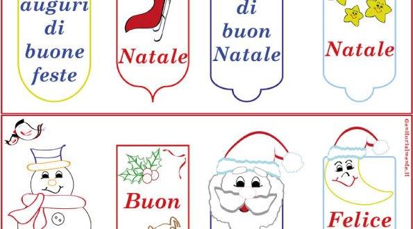 Segnalibri di Natale da scaricare e colorare | Genitorialmente