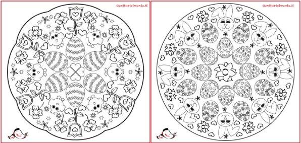 Mandala di Pasqua da colorare per bambini   Genitorialmente