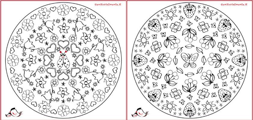 Mandala Di Primavera Per Bambini E Adulti Genitorialmente