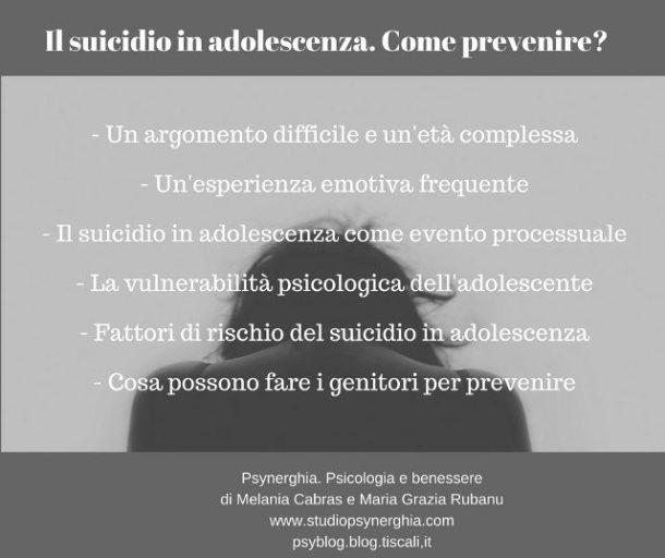Genitorialmente | Suicidio di un adolescente come prevenire