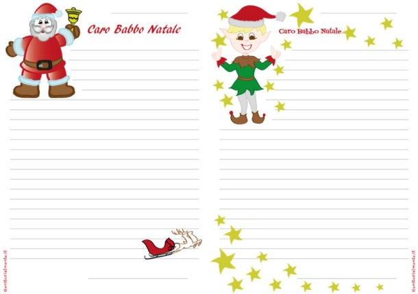 Lettera di Babbo Natale da stampare e scrivere   Genitorialmente