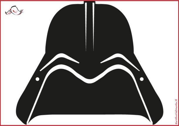 Maschera di carnevale di Dart Fener da scaricare | Genitorialmente