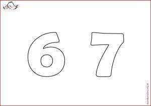 Stencil con i numeri da scaricare: decorazione torte | Genitorialmente