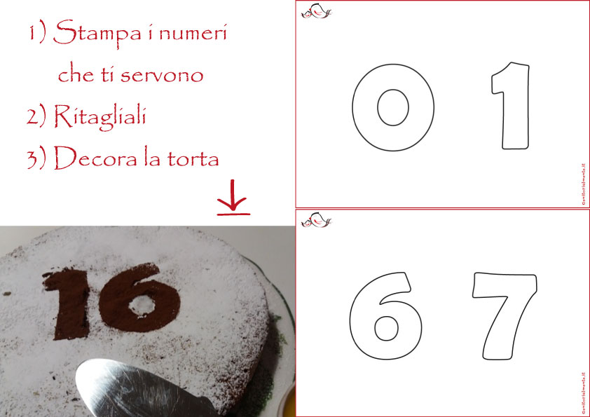 Stencil con i numeri da scaricare decorazione torte genitorialmente - Numeri per tavoli da stampare ...