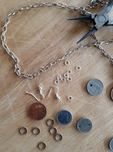 Orecchini e collana fai da te con monete | Genitorialmente