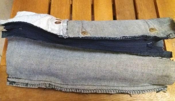 Astuccio fai da te di jeans con cerniera facile | Genitorialmente