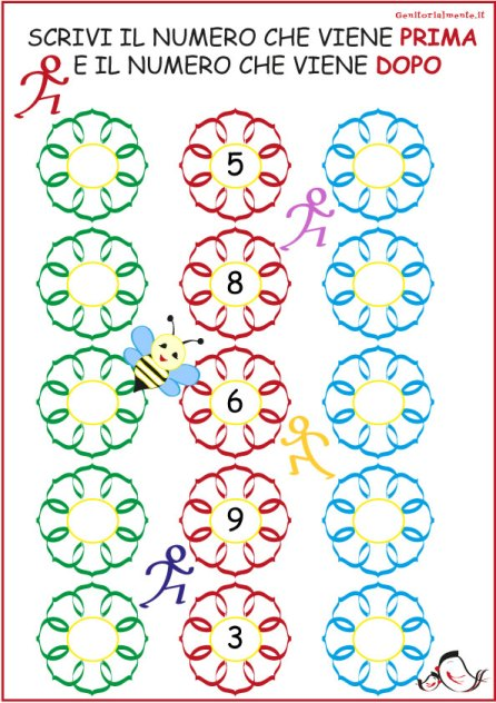 Giochi di matematica di prima elementare da stampare | Genitorialmente