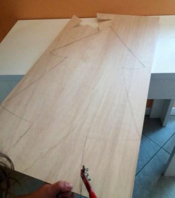 Lavagnetta in legno a forma di albero fai da te | Genitorialmente
