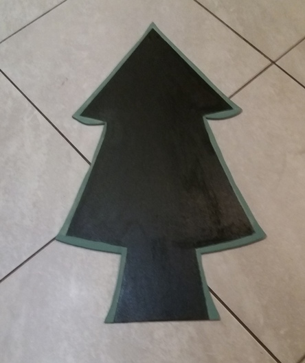 Decorazioni natalizie fai da te casa: legno lavagna | Genitorialmente