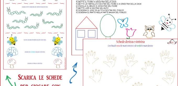 Schede destra e sinistra da scaricare – scuola primaria | Genitorialmente