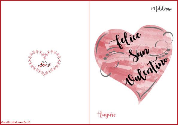 Biglietti di San Valentino da stampare gratis | Genitorialmente