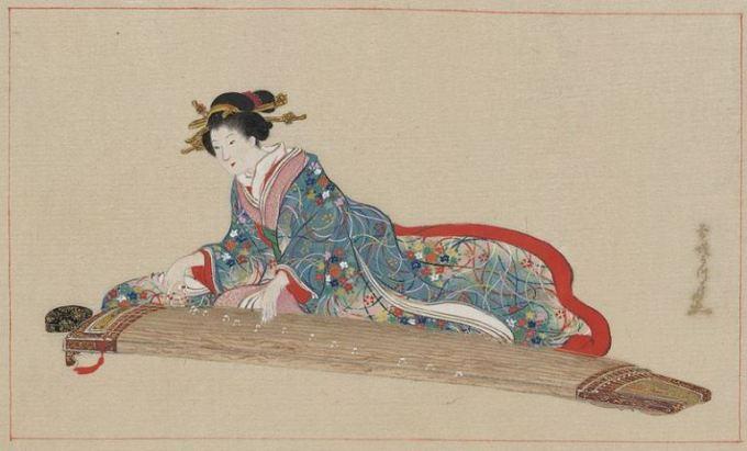 Gyabbo 03 - mulher tocando koto