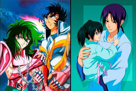 Exemplos de bura-kon e shisu-kon: Ikki, eternamente protegendo Shun em CDZ e Komui, eternamente derretido por Lenalee em D-Gray Man.