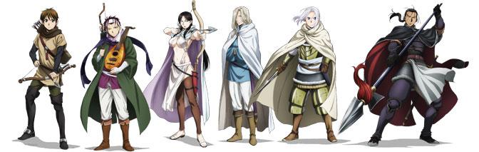 arslan senki - personagens