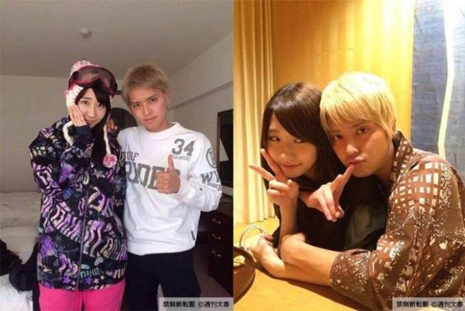 Kashiyagi Yuki, do AKB48, e Tegoshi Yuya, do NEWS