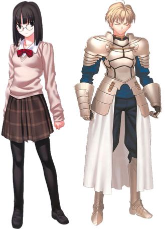 Protagonista Ayaka Sajyou e Saber de Prototype