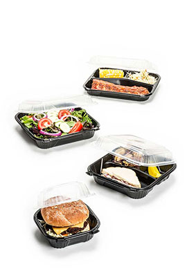 microwave safe containers hinged and