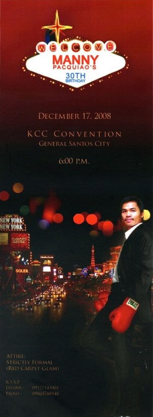 Pacquiao Birthday Party Invitation