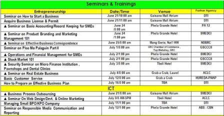 Yaman GenSan 2013 Schedule
