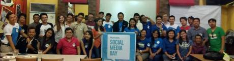 THE PARTICIPANTS OF SOCIAL MEDIA DAY IN GENSAN, ALSO SUPPORTED BY SMART