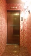 The small alley leading to the elevator door