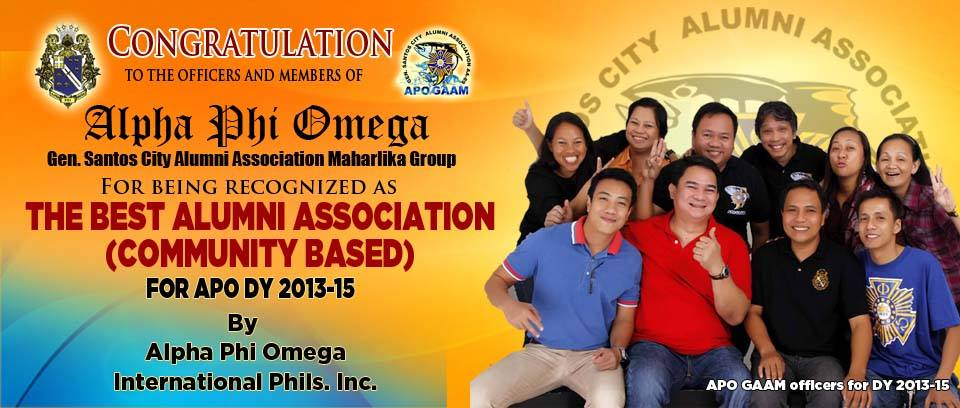 APO Gensan Alumni Association awarded country's best, gears for 2017 Natl. Assembly Hosting