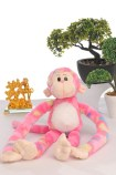 Playtime is fun time with a monkey plush toy.
