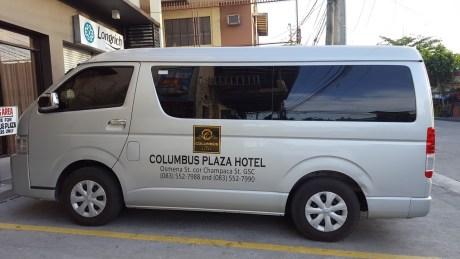 COLUMBUS PLAZA HOTEL VAN