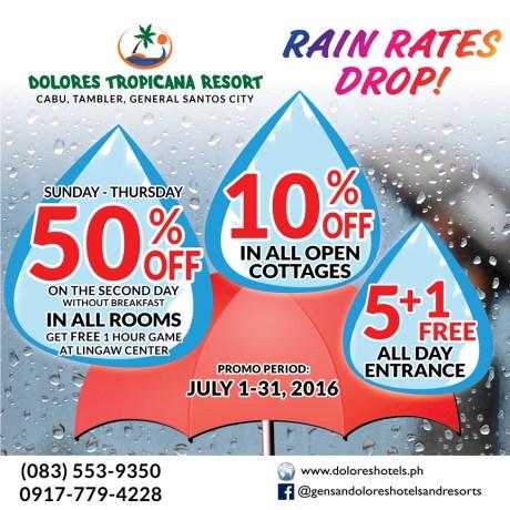 Dolores Tropicana Resort Rain Rates