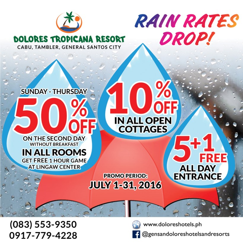 Dolores Tropicana Resort Rain Rates