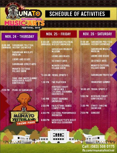 munato 2016 schedule